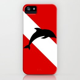 Diving Flag: Dolphin iPhone Case