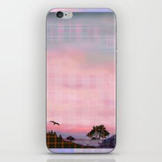Plaid Landscape Tranquil Sunset iPhone & iPod Skin