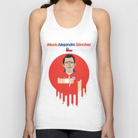 chile Tank Tops featuring Alexis Sanchez - Chile by Gary  Ralphs Illustrations