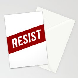 RESIST red white bold anti Trump Stationery Cards