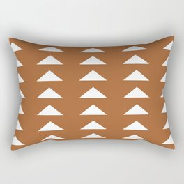 Mudcloth brown pattern Rectangular Pillow