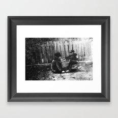Drunk and Son Framed Art Print