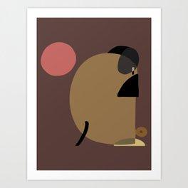 Abstract  Pug Yoga Art Print