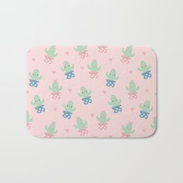 Happy cactus pattern Bath Mat
