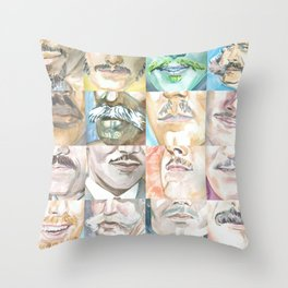 Moustache Series Throw Pillow
