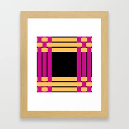 The intertwining pink and yellow ribbons Framed Art Print