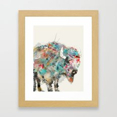 into the wild the buffalo Framed Art Print
