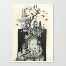 ALL IN MY HEAD Canvas Print