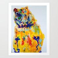 RainbowBear1 Art Print