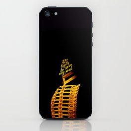 Are you trying to save my soul? iPhone Skin