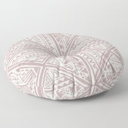 Simply Tribal Tile in Red Earth on Lunar Gray Floor Pillow