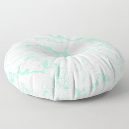 Trendy modern pastel mint green white marble pattern by Girly Trend Floor Pillow