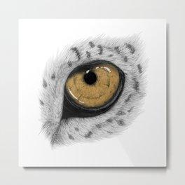 Gold Leopard Eye Metal Print