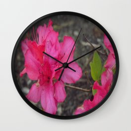 Red Flowers 1 Wall Clock
