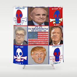 DC Radioactive Toxic Waste Shower Curtain