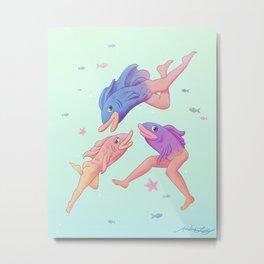 Mermaids Metal Print