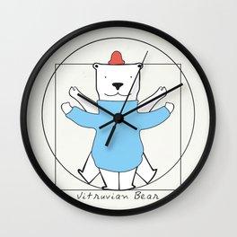 Vitruvian Bear Wall Clock