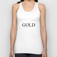 black and gold Tank Tops featuring GOLD by Stars Live Forever