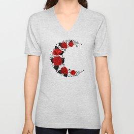 Moon of Red Roses Unisex V-Neck