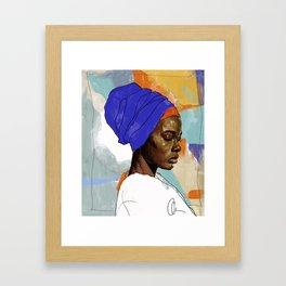 Black Woman Wrap Framed Art Print