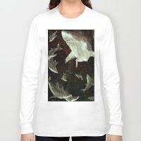 sharks Long Sleeve T-shirts featuring sharks by Lara Paulussen