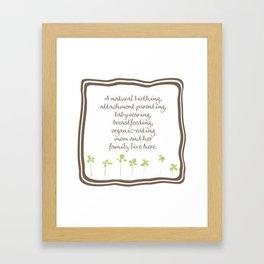 Natural Momma Framed Art Print