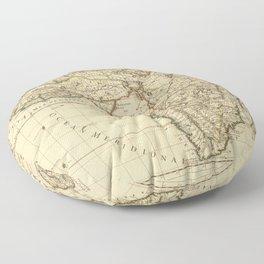 Vintage Map Print - 1669 Sanson Map of Africa Floor Pillow