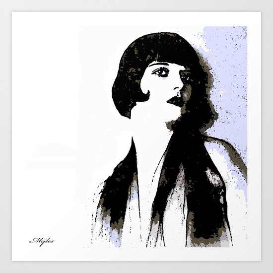 LOUISE BROOKS:  MY LOVE IS ALL I HAVE TO GIVE Art Print