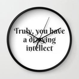 A Dizzying Intellect Wall Clock