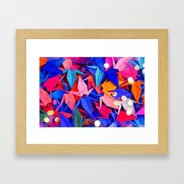 Senbazuru | pink and blues Framed Art Print