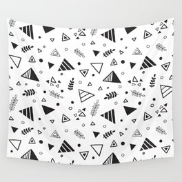 Organic Triangles Wall Tapestry