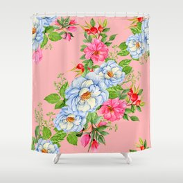 Vintage Floral Pattern No. 6 Shower Curtain