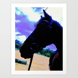 Chase Profile on Blue Sky Art Print
