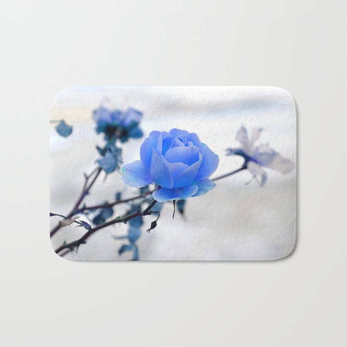 Blue Rose Simplicity Bath Mat