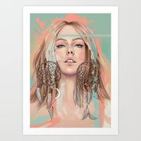 dreamcatcher Art Prints featuring Dreamcatcher by Chelsea Hantken