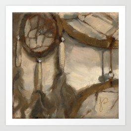 Still Life Impressionist Oil painting of Dream Catcher Art Print