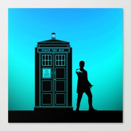 Tardis With The Twelfth Doctor Canvas Print