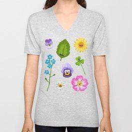 Pressed Flowers Unisex V-Neck