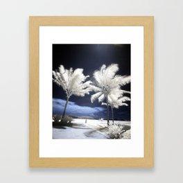 Infra Red Palm Trees Framed Art Print