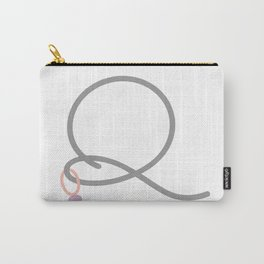 Q Initial with Stitch Marker Carry-All Pouch