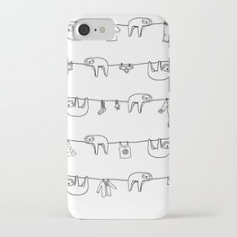 Sloth Laundry Time iPhone Case