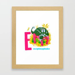 E is for Euoplocephalus Framed Art Print