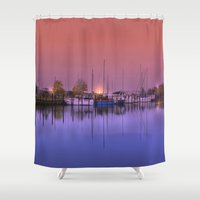 marina Shower Curtains featuring Marina by Laake-Photos