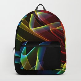 Dancing Northern Lights, Abstract Summer Sky Backpack