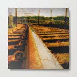 Rusted rail Metal Print