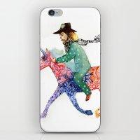 cowboy iPhone & iPod Skins featuring Cowboy by Ksenia Sapunkova