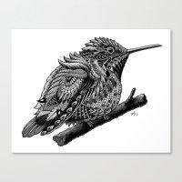 hummingbird Canvas Prints featuring Hummingbird by BIOWORKZ