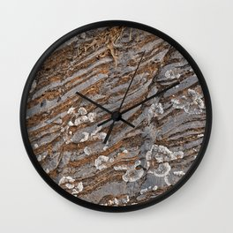 Cracked Stone Striations Wall Clock