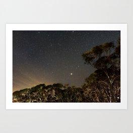 Moonset, Mt Buller Art Print