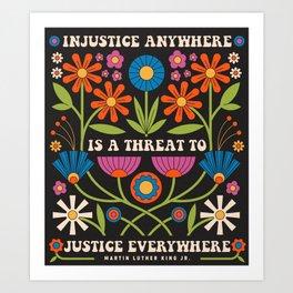 Justice Everywhere Art Print